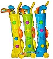 Kinder Sommer Spaß Outdoor Garten Golf Schläger & Caddy Spiel Set