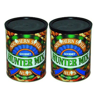 Squirrel Brand Southern Style Nuts-Gourmet Hunter Mix, 36-Ounce (2 cans) total 72 oz