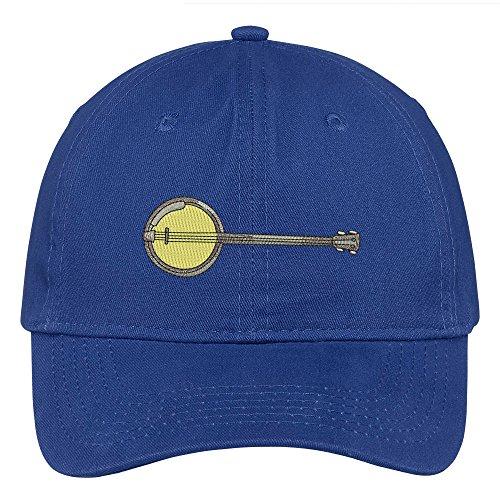 Trendy Apparel Shop Banjo Embroidered Low Profile Soft Cotton Brushed Baseball Cap - - Banjo Slide
