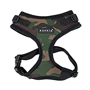 Puppia Authentic Puppia Ritefit Harness With Adjustable Neck, Camo, X-Large