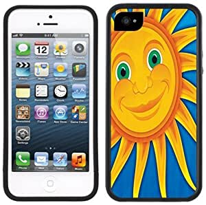 Smiling Sun Handmade iPhone 5 5S Black Bumper Plastic Case by Maris's Diary