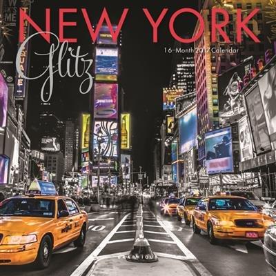 Minicalendario de 2017, diseño de Nueva York de noche ...