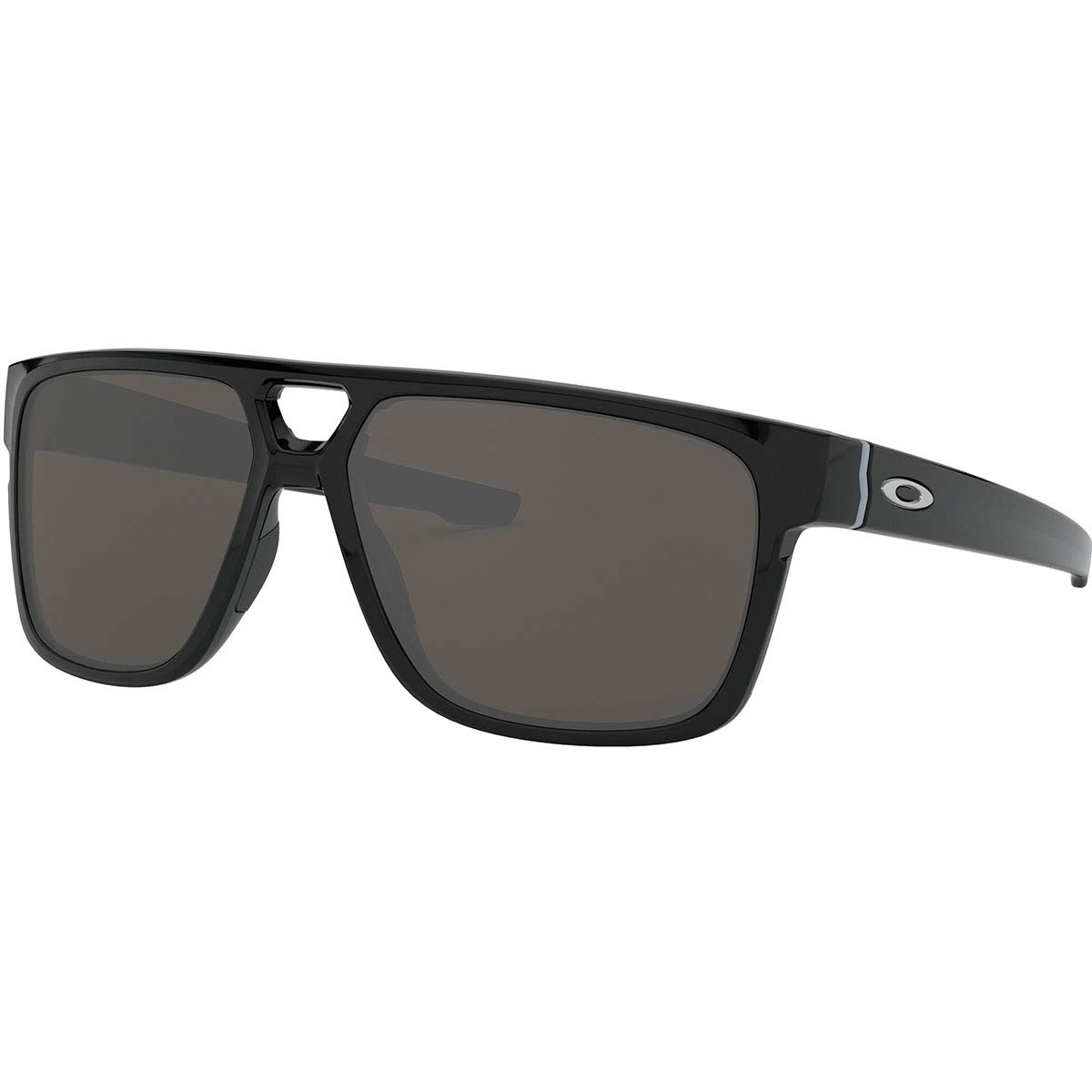 Oakley CROSSRANGE Patch 9382 Gafas, Polished Black/WARMGREY, 60 Hombres