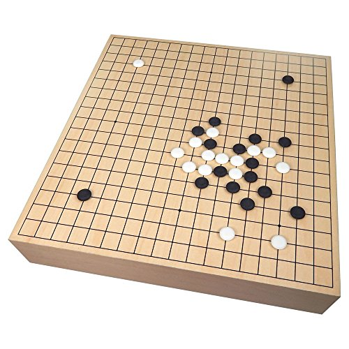 (Kirkham Maple Wood Go Game Set with Storage – Large Tournament Size Board – 18.25 x 17.15 x 3.75 in)