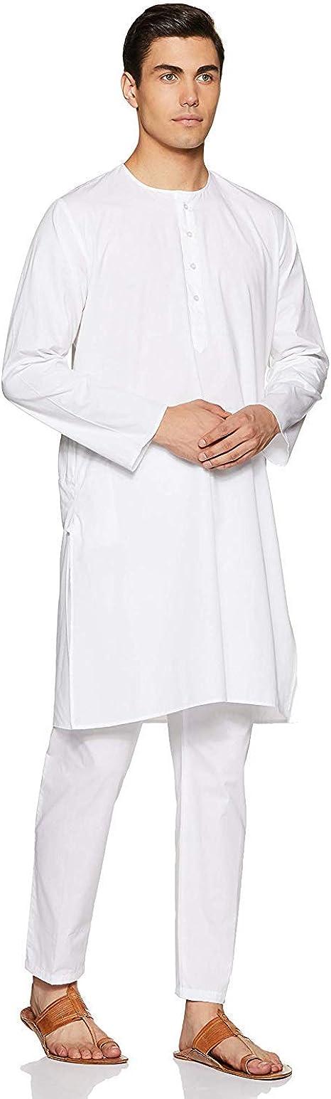 Kurta Royal Pijama de algodón Blanco para Hombre: Amazon.es ...