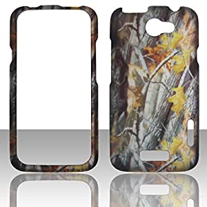 2D Camo Branches HTC One X AT&T, HTC One X XL S720e Canada (Rogers) Case Cover Hard Phone Case Snap-on Cover Rubberized Touch Faceplates