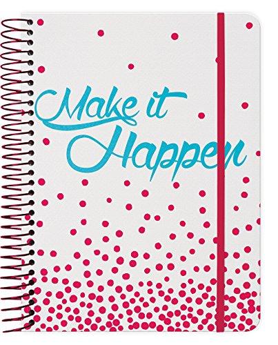 Make It Happen 2018 Weekly Note Planner Spiral Bound by Trends International
