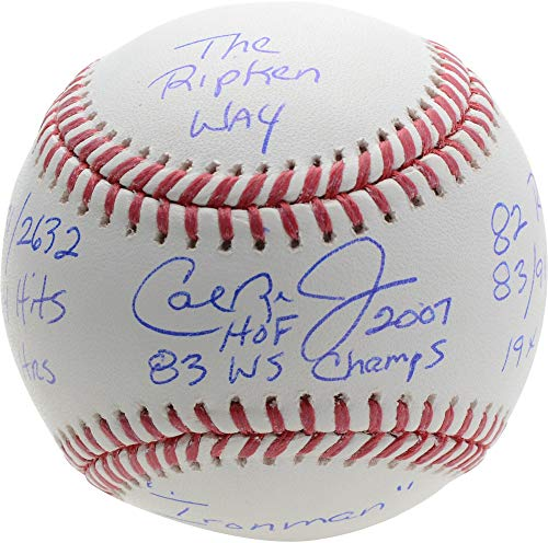 Cal Ripken Jr. Baltimore Orioles Autographed 1983 World Series Baseball with Multiple Inscriptions - Limited Edition of 12 - Fanatics Authentic Certified