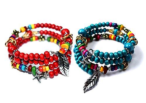 Syleia Bohemian Colorful Bracelets Dangling