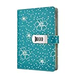 A5 PU Leather Diary Book Lockable Writing Notebook Journal (Pen is Shooting Props, not Included) TPN107 (Green)