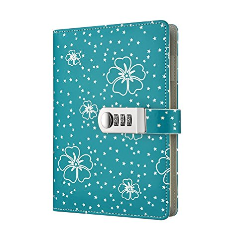 A5 PU Leather Diary Book Lockable Writing Notebook Journal (Pen is Shooting Props, not Included) TPN107 (Green) by Yakri