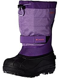 Columbia Powderbug Plus II Youth Winter Boots -1, Emperor,Melonade
