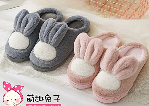 Womens Cartoon Warm Indoor House Bunny Slippers Cute Slippers Pink jSUwFuLKTc