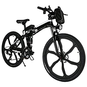 "Pro Folding 500W 26"" Speed Electric Power Mountain Bicycle with Large Lithium Ion Battery (US STOCK)"