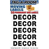Tag-A-Room Box Content Moving Label (Decor)