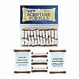 Egglo Scripture Scrolls (12) - Fun Religious/ Christian Easter Egg Filler Toys for Your Kid's Basket