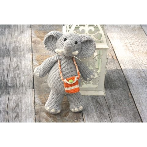 Hand Crocheted Elephant Toy - Organic and Fair Trade