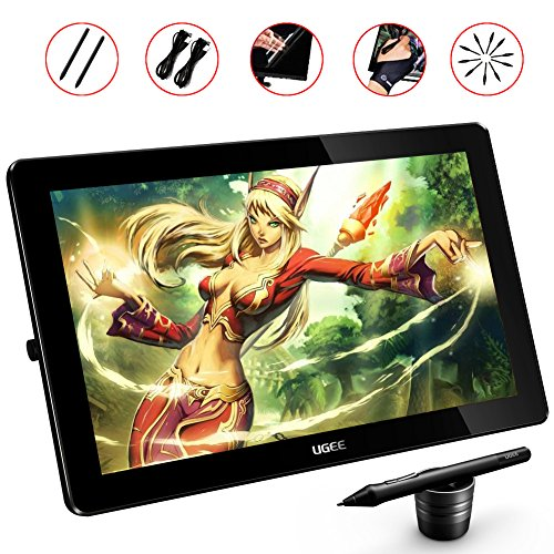 Ugee HK1560 15 6 Inches LED Graphics Monitor IPS Pen Display HD Resolution  Drawing Monitor Dual Monitor with Adjustable Stand
