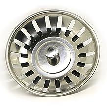 Stainless Steel Home Kitchen Sink Drain Stopper Basket Strainer Waste Plug 8cm