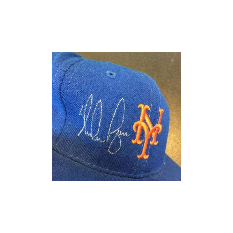 Nolan Ryan Signed Authentic New York Mets Game Model Hat Cap With COA JSA Certified Autographed Hats