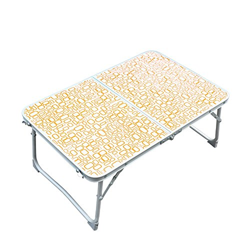 GFL Table Outdoor Multi-purpose Camping Picnic Portable Folding Computer Notebook Learn Table Computer Tables (Color : Orange) by GFL