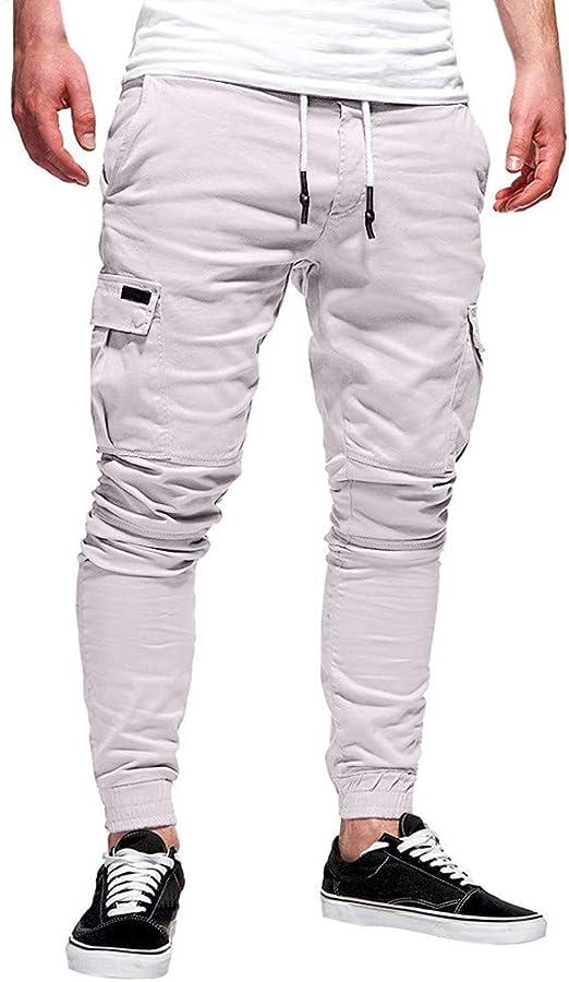 STRIR Pantalones de Hombre Casuales Deporte Joggers Pants Algodón ...