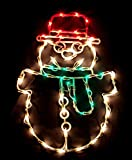 "17"" Lighted Snowman Christmas Window Silhouette Decoration"
