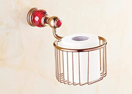 Cristal de cobre cestas de toallas europeos, mármol aumentaron cestas de papel de seda de