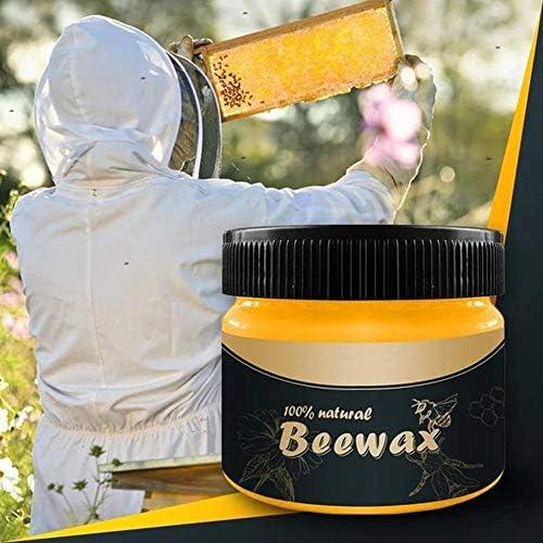 Wangyan 123 2 Bottle Wood Seasoning Beewax - Traditionelles Bienenwachs-Poliermittel Mit 2 Schwämmen Und 4 Lappen - Gut Für Holz Und Möbel Welcoming
