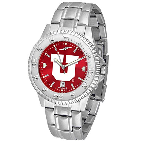 Utah Utes Competitor Steel Watch (Utah Utes Competitor Steel AnoChrome Men's Watch)