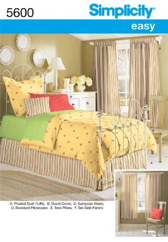 Simplicity Sewing Pattern 5600 Home Decorating, One Size (Duvet Cover Sewing Patterns compare prices)