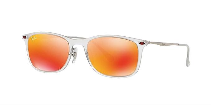 Ray-Ban Gafas de sol RB4225 MATTE TRASPARENT, 52: Amazon.es ...