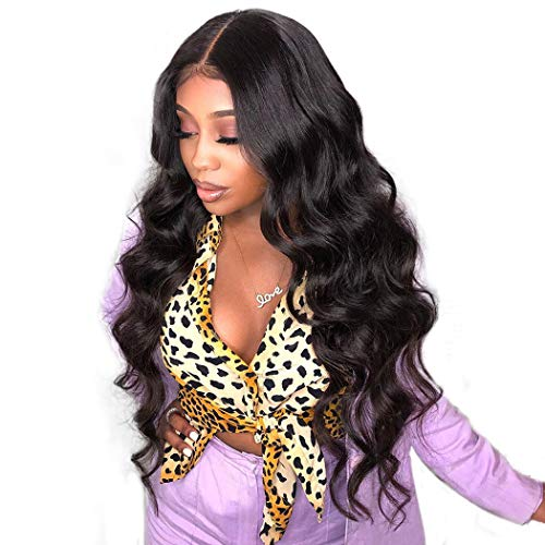 Dolago 360 Lace Frontal Wig Body Wave for Black Women Pre Plucked with Baby Hair, Glueless 150% Density 360 Lace Front Wigs Brazilian Virgin 100% Human Hair Wigs Natural Color(22inch,Body Wave)