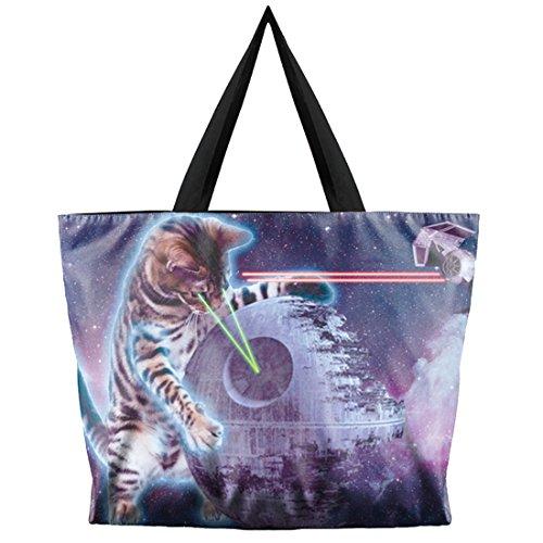 Belsen - Bolso al hombro para mujer multicolor devil Talla única Laser cat