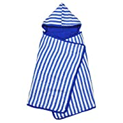green sprouts Muslin Hooded Towel made from Organic Cotton,Royal Blue
