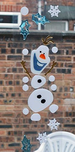 Disney frozen christmas window decoration re useable gel window stickers