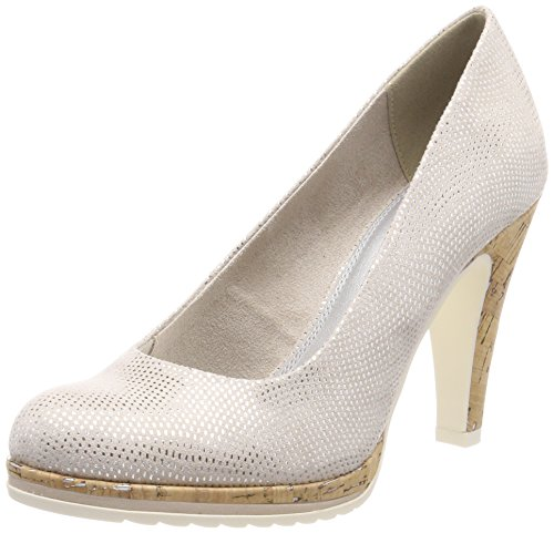 22403 Marco Zapatos Mujer Metallic Tozzi Tacón Para dune Beige De gr7q57wP