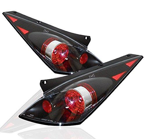 ZMAUTOPARTS Tail Brake Light Rear Lamp JDM Black For 350Z Z33 Touring Track 2 (05 Nissan 350z Track)