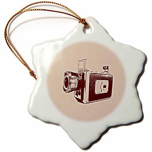 (OneMtoss Kike Calvo Picture of a Vintage Super Video Camera Snowflake Porcelain)