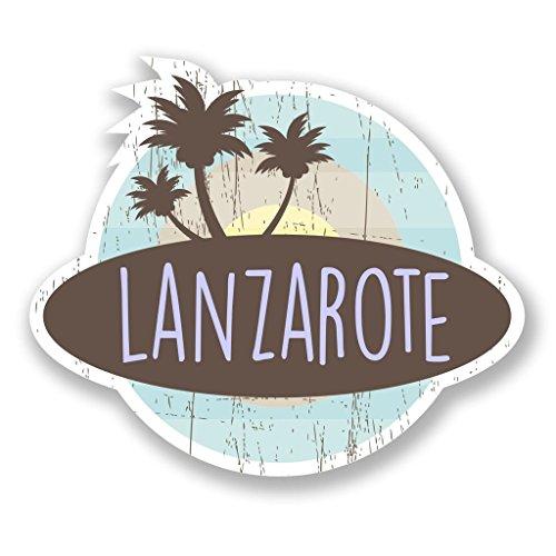 - 2 x 25cm- 250mm Lanzarote Island Spain Vinyl SELF ADHESIVE STICKER Decal Laptop Travel Luggage Car iPad Sign Fun #6761