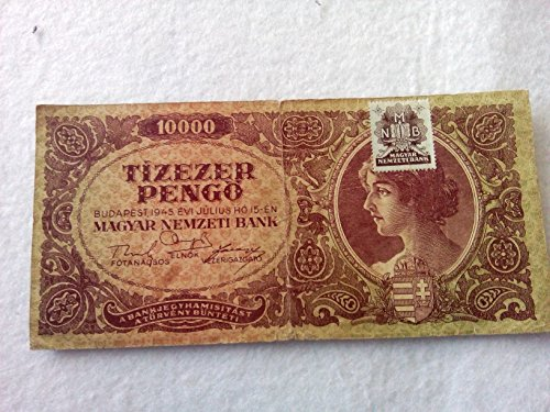 Hungary 10000 pengo 1945 banknote with (Hungary Note)