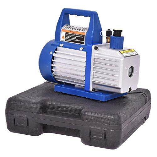 [해외]Goplus 4CFM 1 3HP 공기 진공 펌프 HVAC 냉각 키트 AC 매니 폴드 게이지 세트 R134/Goplus 4CFM 1 3HP Air Vacuum Pump HVAC Refrigeration Kit AC Ma