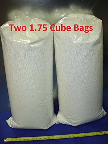 [(FREE SHIPPING) SMALL BEAD Extremely Comfortable Premium 4.5MM to 5MM Three and a Half Cubic Feet 100 Liters (Two One and Three Quarter Cube Bags or One Three and a Half Cube Bag) Virgin Small Polystyrene Styrofoam Bean Bag Filler Refill Pure Bead Stuffing Packaged and Shipped in a Bag] (Pure Bead Bean Bag)