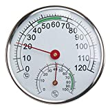 Stainless Steel Thermometer/Hygrometer for Sauna Room Temperature Humidity Meter - Measurement & Analysis Instruments Temperature Measurements - 1 x Thermometer