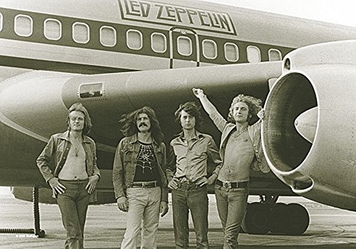 "Led Zeppelin Airplane Giant Fabric Poster 44"" x 30"""