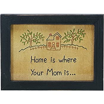 Amazon.com: Primitives by Kathy Home Is Where Your Mom Is Stitchery ...