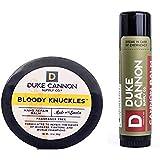 Duke Cannon Supply Co. Skin Defense Travel Bundle: Bloody Knuckles Hand Repair Balm, 1.4oz + Cannon Balm Tactical Lip…