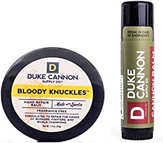 product image for Duke Cannon Supply Co. - Mens Winter Defense Travel Bundle Kit (2 Piece Set) Includes Bloody Knuckles Hand Repair Balm (1.4 oz) and Cannon Tactical Lip Protectant (0.56 oz)