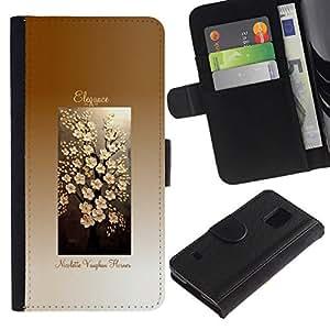 All Phone Most Case / Oferta Especial Cáscara Funda de cuero Monedero Cubierta de proteccion Caso / Wallet Case for Samsung Galaxy S5 V SM-G900 // Cubo flor