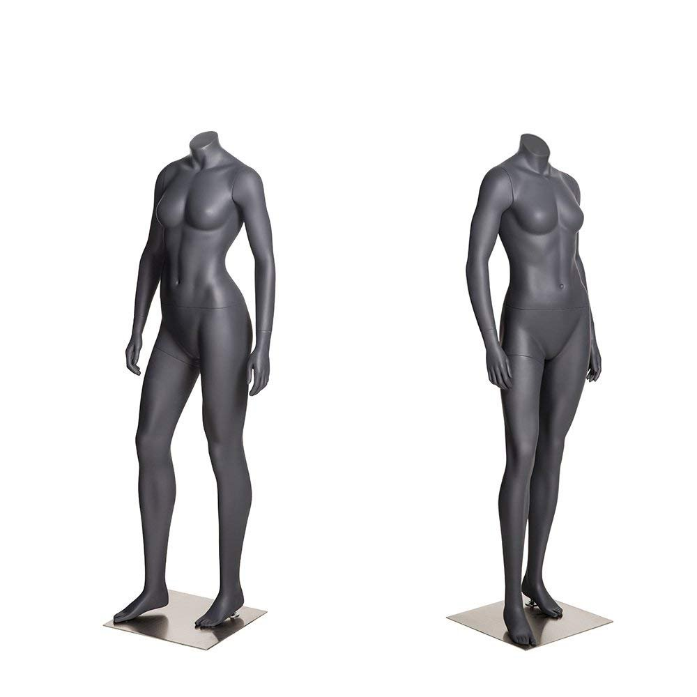 Zupernow@ Sports Female Mannequin Black Model with Hands Headless Mannequins Athletic Runner Style for Sports Clothing Store Display Women Mannequin 100101004